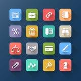 Значки цвета плоские для дела и вебсайта конструируют. бесплатная иллюстрация