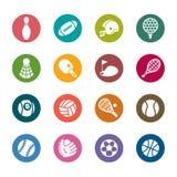 Значки цвета спорта бесплатная иллюстрация
