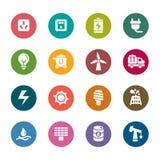 Значки цвета энергии Стоковое Изображение RF