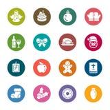 Значки цвета элемента рождества Стоковая Фотография RF