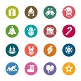 Значки цвета элемента рождества Стоковое Изображение