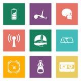 Значки цвета для веб-дизайна установили 3 Стоковое Фото