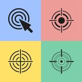 Значки цели Стоковые Изображения RF