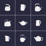 Значки чайников Стоковое Фото