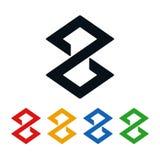 Значки часов, лабиринт сформированный дизайн логотипа иллюстрация штока