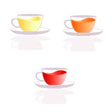 Значки чашек чая Стоковое Изображение
