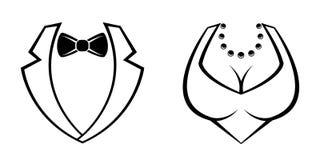 Значки человека и женщины vector иллюстратор на белизне бесплатная иллюстрация