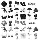 Значки черноты Бразилии страны в собрании комплекта для дизайна Перемещение и привлекательности Бразилия vector сеть запаса симво иллюстрация вектора