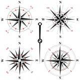 Значки черно-белого ветра розовые Стоковые Изображения RF