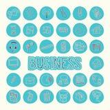 Значки чертежа Стратегия бизнеса Стоковые Изображения RF