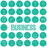 Значки чертежа Стратегия бизнеса Стоковые Фото