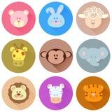 Значки шаржа животных Стоковые Изображения