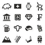 Значки Швейцарии Стоковые Фотографии RF