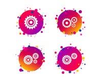 Значки шестерни Cogwheel Символ механизма вектор бесплатная иллюстрация