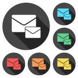 Значки электронной почты иллюстрация вектора