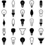 Значки электрической лампочки Стоковая Фотография RF