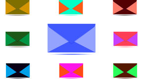 Значки электронной почты и телефона Стоковая Фотография RF