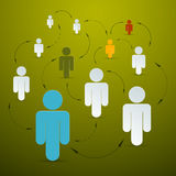 Значки людей вектора бумажные Стоковая Фотография RF