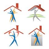 Значки людей и крыши Стоковая Фотография RF