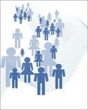 Значки людей толпы Стоковая Фотография RF