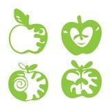 Значки Яблока Стоковое Фото