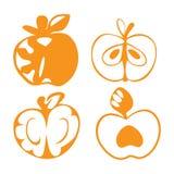Значки Яблока Стоковые Изображения RF