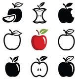 Значки Яблока Стоковые Фотографии RF