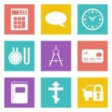Значки для веб-дизайна установили 15 Стоковые Изображения RF