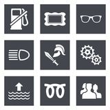 Значки для веб-дизайна установили 19 Стоковые Изображения