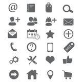 Значки для комплекта вебсайта Стоковые Изображения RF