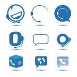 Значки для центра телефонного обслуживания или горячей линии, символа поддержки в векторе Стоковое Фото