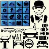 Значки для carsevice Иллюстрация вектора