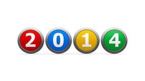 Значки 2014 Стоковое фото RF