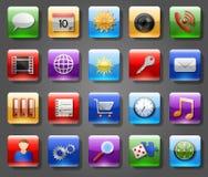 Значки App Стоковые Изображения RF