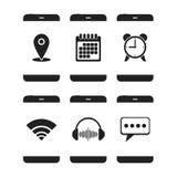 Значки app Smartphones иллюстрация штока