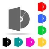 Значки CD-привода Элементы человеческой значков покрашенных сетью Наградной качественный значок графического дизайна Простой знач бесплатная иллюстрация