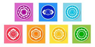 Значки Chakras Стоковое Изображение RF