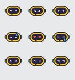 Значки Chatbot Emoji Стоковая Фотография