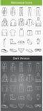 Значки Conture мужская одежда Стоковые Фотографии RF