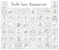 Значки Doodle. Комплект дела Иллюстрация штока