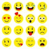Значки Emoji установленные иллюстрация штока