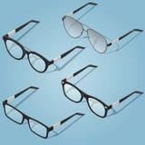 Значки eyeglasses вектора равновеликие Для infographics или равновеликого дизайна бесплатная иллюстрация