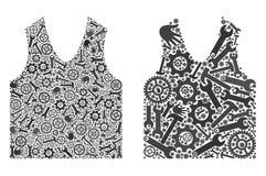 Значки Gilet мозаики инструментов обслуживания бесплатная иллюстрация