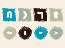 Значки Grunge Стоковые Фото