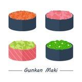 Значки maki Gunkan установленные Стоковое Изображение RF