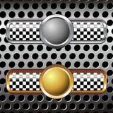 значки metal над гонкой Стоковое Изображение RF