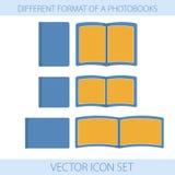 Значки photobooks форматов Стоковое фото RF