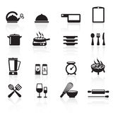 Значки set01 кухни Стоковые Фотографии RF