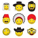 Значки smiley emoji смайликов воплощения Стоковое Изображение