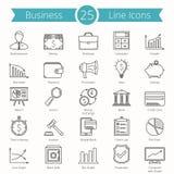 25 значков бизнес-линии Стоковое Изображение RF